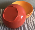 Tupperware Open House Floresta Cereal Bowls 3 Cups Set of Four Shades Orange New