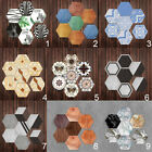 5x Waterproof Hexagon Removable Wall Sticker Decal For Home Room Decoration