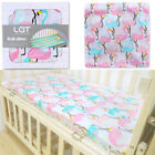 Внешний вид - LAT 100% Cotton Crib Fitted Sheet Unicorn Soft Baby Bed Mattress Cover Protector