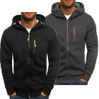 Men's Winter Hoodies Slim Fit Hooded Sweatshirt Outwear Sweater Tense close Coat Jacket