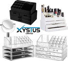 Clear Acrylic Cosmetic Makeup Organiser With Drawers 19 Different Large Designs