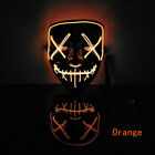 Halloween Scary Mask Cosplay Led Light Up Costume Mask The Purge Movie USPS