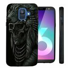 For Samsung Galaxy A6 (2018), Slim Embossed Grip Texture Case Dual