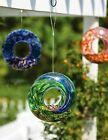 Evergreen Warm Accents Glass Circle Bird Feeder Swirl - Three Assorted Colors!