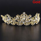 Rhinestones Baroque Bridal Crown Tiara Wedding Bride Hair Headdress FlowerKingXS