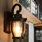 Raindrop Retro Industrial Wall Lamp Light Glass Home Decor Cafe Outdoor RusL