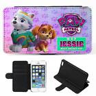 Personalised iPhone Case PAW PATROL Cover Flip Phone Wallet Girls Pink KSP120
