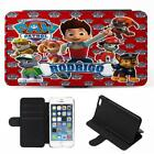 Personalised iPhone Case PAW PATROL Cover Flip Phone Wallet Boys Red Gift PW03