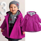 US Baby Girls Warm Fleece Hooded Coat Button Outerwear Snowsuit Toddler Jacket