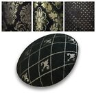 Flat Round Shape Cover*Black Chenille Floor Seat Chair Cushion Case Custom*Wk10