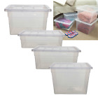 Spacemaster Plastic Storage Box Boxes Container & Lids Removal House Home Garage
