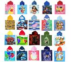 Boys Girls Kids Official Character Hooded Towel Poncho Beach Swim Holidays Bath