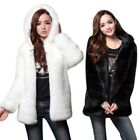 US Women's Winter Warm Faux Fur Hooded Jacket Thick Snow Coat Parka Outerwear