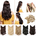 """15-24"""" Body Wave Hair One Piece Invisible Halo Wire Flip On Human Hair Extension"""
