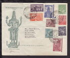 INDIA 1949 INDEPENDENCE DAY ILLUSTRATED 1st DAY COVER STAMP SET to 6As AUSTRALIA
