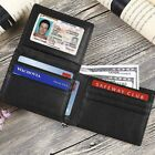 RFID Mens Real Leather Wallet Card Pocket Bifold Purse Business Minimalist Style