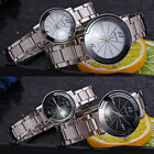 Couple Men Women Stainless Steel Analog Quartz Wrist Watches Fashion Watch Gift image