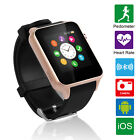 Smart Wristband Watch Bluetooth Heart Rate Cell Phone For Android Samsung iPhone