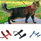 Adjustable Pet Cat Nylon Harness Leash Kitten Halter Collar Belt Safety Strap US