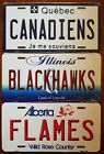 "NHL Hockey Team State Background Metal License Plate ""Made In The USA"" $8.99 USD on eBay"