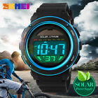 SKMEI Men's Solar Power Outdoor Sport Digital Chrono Waterproof Army Wrist Watch image