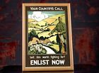 WW1+British+Recruiting+Propaganda+Poster+-+Your+Country%27s+Call%2C+Enlist+Now%2C+WWI