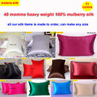 1pc 40mm Thickest 100% Mulberry Silk Pillow Case Cover Zipper Close Sisters-Silk image
