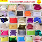 1pc 16mm 100% Mulberry Silk Pillow Case Cover Zipper Close All Size Sisters-Silk image