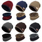 Kyпить Men Winter Knitted Scarf and Hat Set Warm Knitting Thicken Skullcaps OW на еВаy.соm