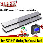 """36""""/72"""" WiFi Dimmable LED Aquarium Light Programmable Coral Reef SPS LPS Marine"""
