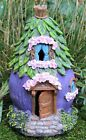 Fairy House Solar Garden Ornament Pixie Lawn Secret Gift