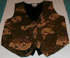 ZeLL UCCI Classic Beaded Vest Flowers Geometric design. One Size fits all