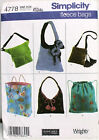 Fleece Bags Pattern- HObo, Bakcpack, Tote, Shoulder & Hip Bag - NEW