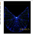 360 degrees colorful glowing Led light Isis Wings Adjustable Sticks Belly Dance