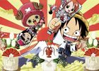Anime One Piece Strong World Luffy Zoro ACE Poster Group High Glossy Laminated