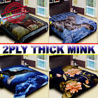 *NEW* 2 ply Thick Plush Super Soft Luxury Winter Mink Blanket Queen 5 Diamond