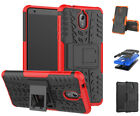 Dooqi Shockproof Case Hard Protective Kickstand Slim Phone Cover For Nokia 3.1
