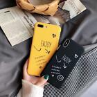 Couples Smiley Face Cute Pone Back Cover Case for IPone X  7 plus  8S plus 6
