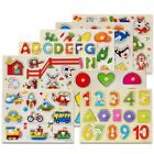 Wooden Animal Letter Puzzle Jigsaw Early Learning Educational Toys For Baby Kids