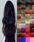 Hair Extensions Clip in Hair Extension real Human Feel Mid Brown Bleach Blondes