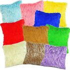 Pillow Cover*Faux Fur Skin Curly Sofa Seat Pad Cushion Case Custom Size*Fs1