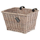 PedalPro Vintage Hand Woven Rectangle Front Wicker Bike Basket Bicycle/Cycle