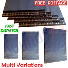 50 Grey Strong Plastic MAILING BAGS Postal PACK n MAIL Bags 3 Sizes Free Post UK