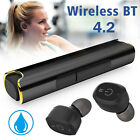 True Wireless Bluetooth 4.2 Earbud Headphone Stereo Twins Headset Sport Earphone