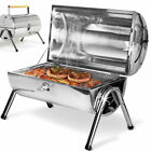 3 IN 1 Black BBQ Charcoal Grill Barbecue Smoker Garden Outdoor Cooking Steel UK