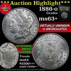 Morgan Silvr Dollar 1886O USCG Cert MS63t Outstand Breast Feathers Frosty Luster