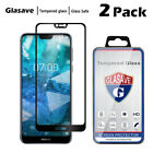 Glasave Black Full Cover Tempered Glass Screen Protector For Nokia 7.1