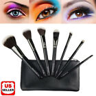 7Pcs Makeup Brushes Kabuki Foundation Blending Eyeshadow Blush Powder Brush Set