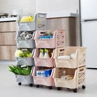 3/4 Tiers Kitchen Fruit Vegetable Storage Trolley Rack Stand Rolling Carts