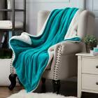 Sherpa Throw Fleece Blanket Luxury Flannel Faux Soft Bed Couch Sofa All Sizes  image